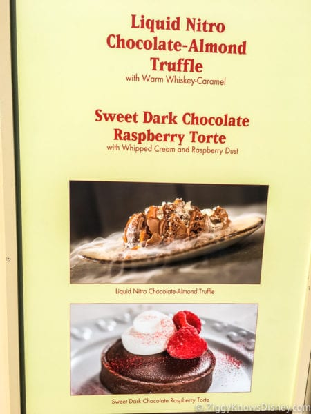 Chocolate Studio Review 2017 Epcot Food and Wine Festival Chocolate Studio Menu Pics