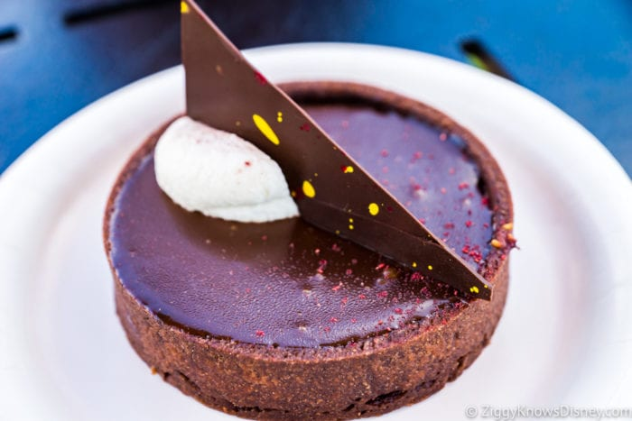 Chocolate Studio Review 2017 Epcot Food and Wine Festival Sweet Dark Chocolate Raspberry Torte side