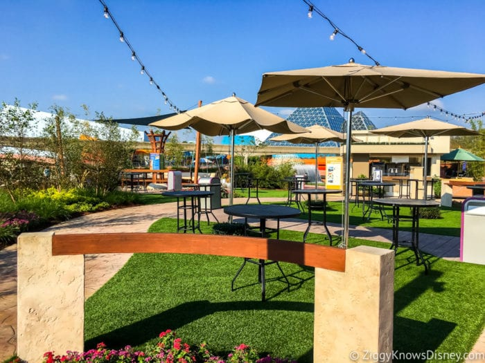 Coastal Eats Review 2017 Epcot Food and Wine Festival Next Eats eating area