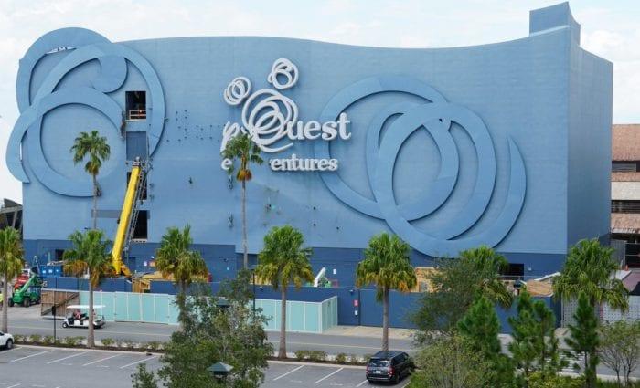Disney Quest Demolition sign taken down