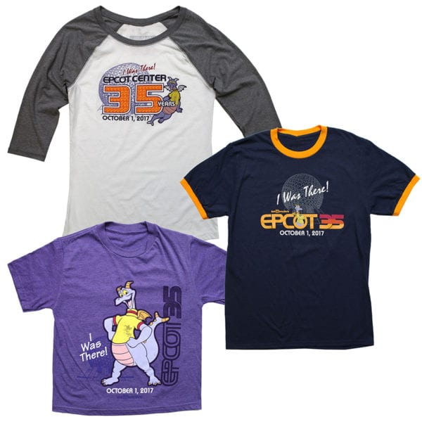 Epcot 35th Anniversary I Was There shirts
