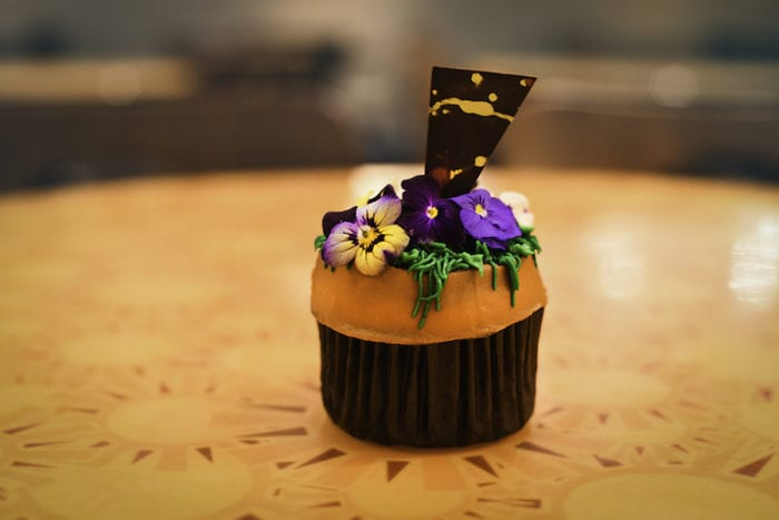 Epcot 35th Anniversary Special Eats flower pot cupcake