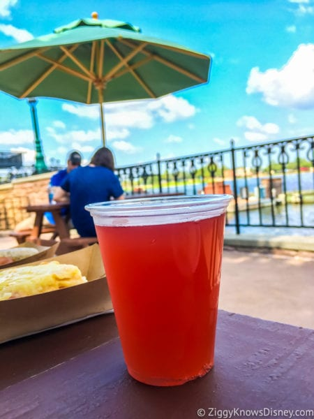 Pomegranate Beer Review 2017 Epcot Food and Wine Festival Schöfferhofer Hefeweizen Pomegranate Beer umbrella