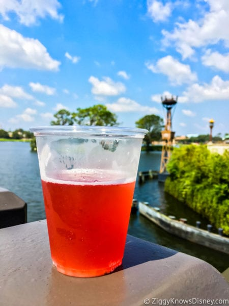 Pomegranate Beer Review 2017 Epcot Food and Wine Festival half empty