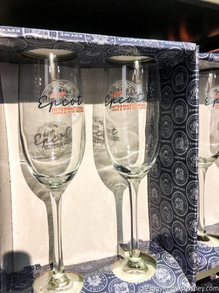 2017 Food and Wine Merchandise champagne glasses