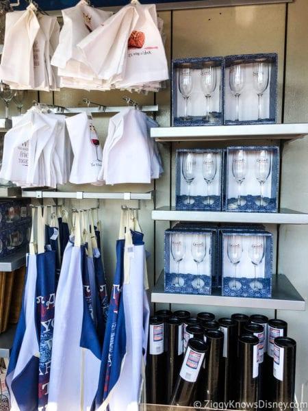 2017 Food and Wine Merchandise shelves