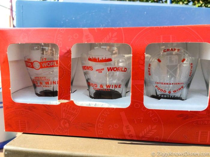 2017 Food and Wine Merchandise shot glasses