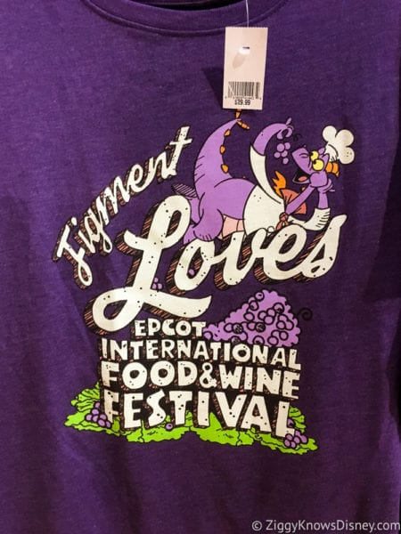 2017 Food and Wine Merchandise figment shirt