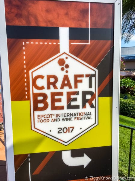 Craft Beer Review 2017 Epcot Food and Wine Festival Craft Beer Sign