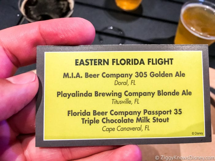 Craft Beer Review 2017 Epcot Food and Wine Festival Eastern Florida Flight Card