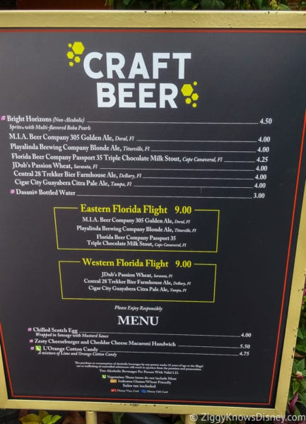 Craft Beer Review 2017 Epcot Food and Wine Festival Craft Beer Menu