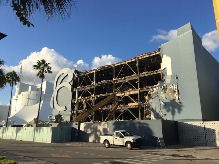DisneyQuest Demolition from street