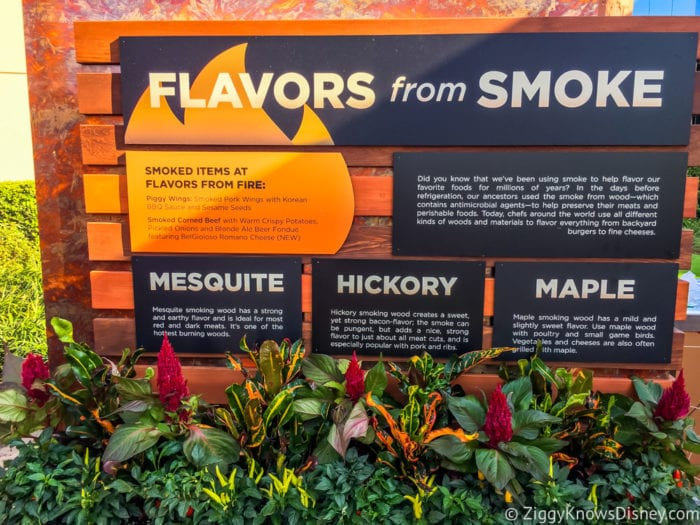 Flavors from Fire Review 2017 Epcot Food and Wine Festival flavors from smoke