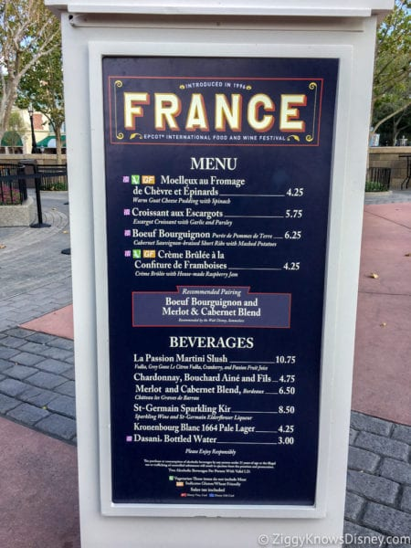 France Review 2017 Epcot Food and Wine Festival France Menu