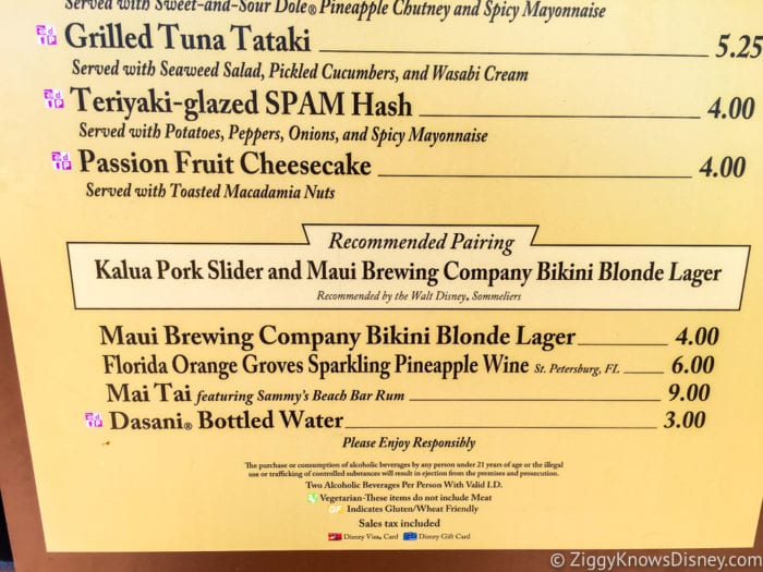 Hawaii Review 2017 Epcot Food and Wine Festival Hawaii Menu