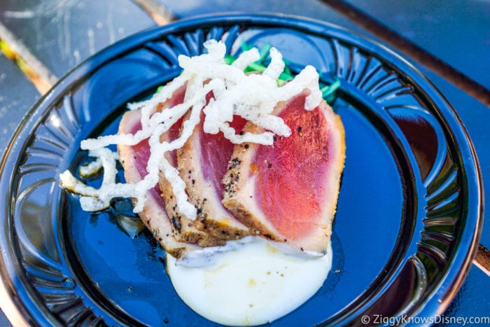 Hawaii Review 2017 Epcot Food and Wine Festival Grilled Tuna Tataki
