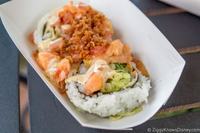 Japan Review 2017 Epcot Food and Wine Festival Salmon BLT Sushi Roll