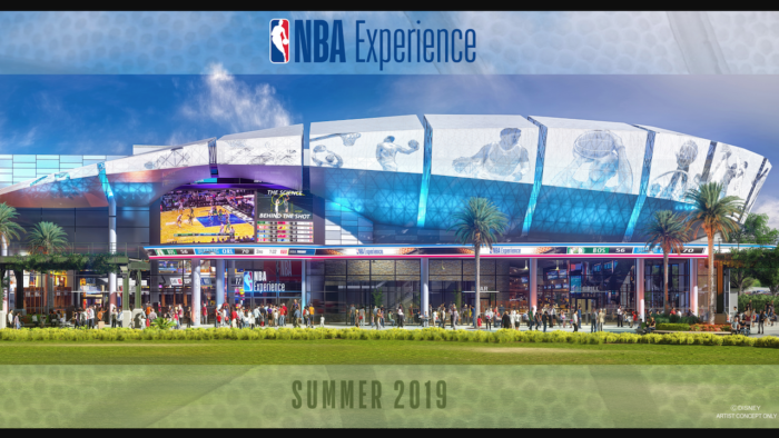 NBA Experience in Disney Springs outside
