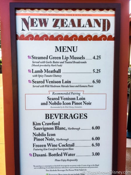 New Zealand Review 2017 Epcot Food and Wine Festival New Zealand Menu 2017