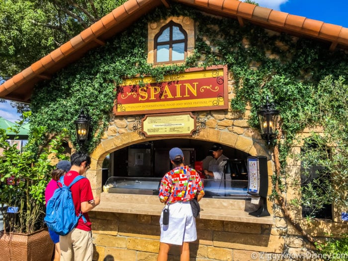 Spain Review 2017 Epcot Food and Wine Festival Spain booth