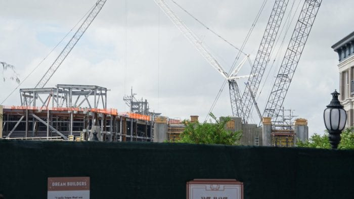 Star Wars Galaxy's Edge construction update October cranes