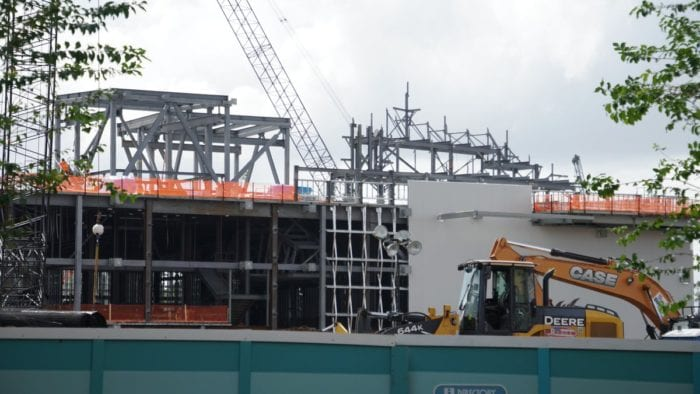 Star Wars Galaxy's Edge construction update October walls