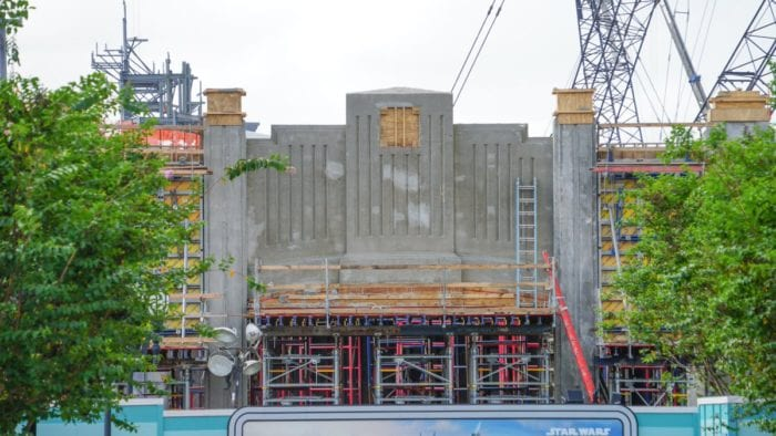 Star Wars Galaxy's Edge construction update October tunnel