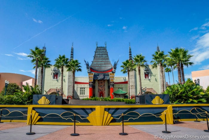 Hurricane Irma in Walt Disney World Chinese Theater Hollywood Studios old stage