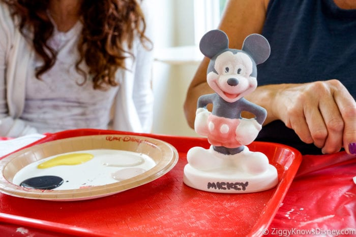 Hurricane Irma in Walt Disney World painting Mickey ceramics activity 3