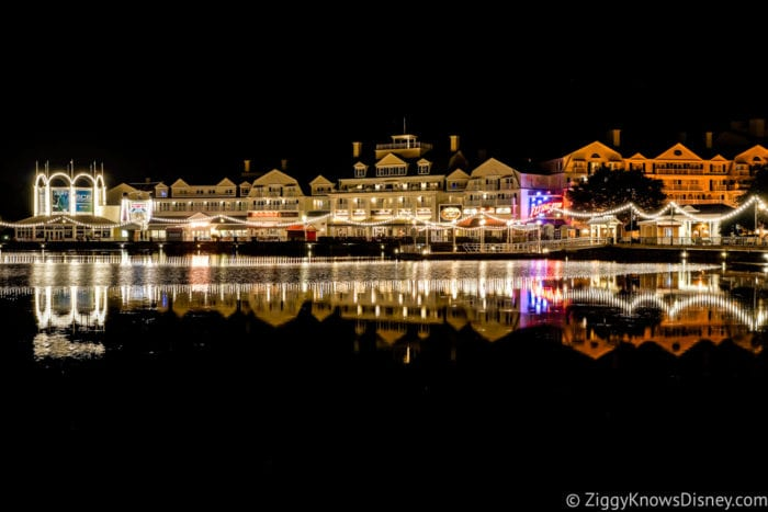 Hurricane Irma in Walt Disney World Boardwalk at Night