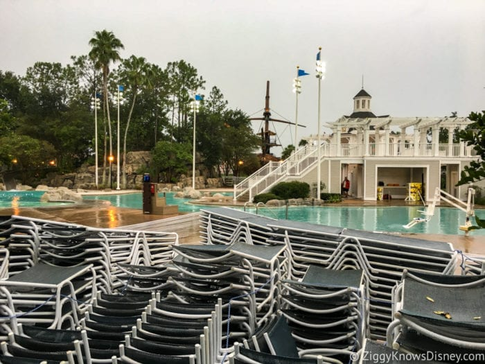 Hurricane Irma in Walt Disney World yacht and beach club pool chairs