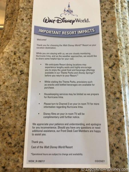 Hurricane Irma in Walt Disney World walt Disney world resort regulations for hurricane irma