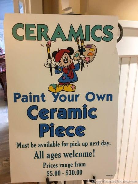 Hurricane Irma in Walt Disney World beach club ceramics class sign