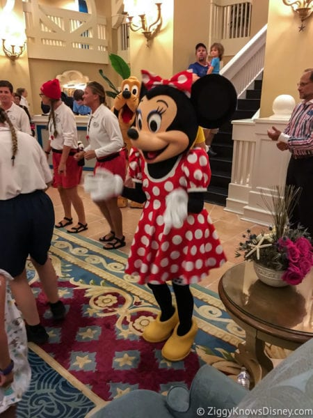 Hurricane Irma in Walt Disney World Beach Club Characters Dancing Minnie Mouse