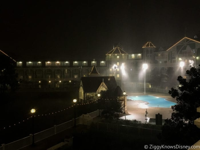 Hurricane Irma in Walt Disney World Beach Club Villas pool during hurricane