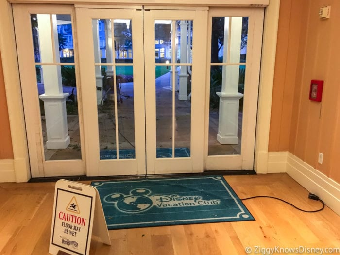 Hurricane Irma in Walt Disney World Beach Club Villas door