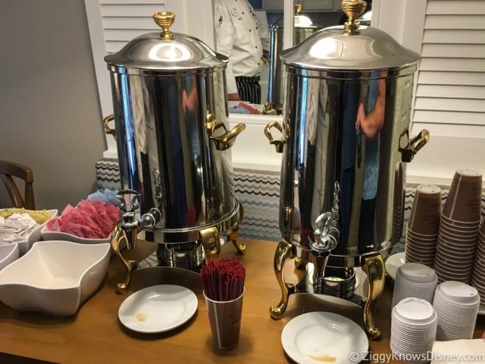Hurricane Irma in Walt Disney World beach club villas breakfast coffee