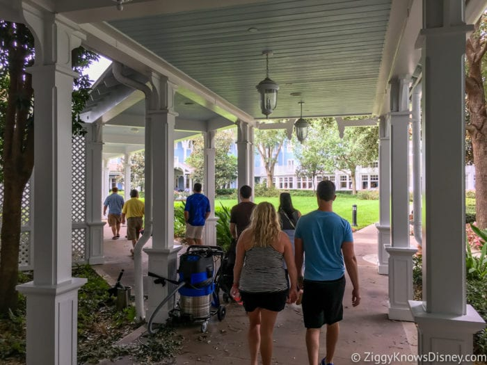 Hurricane Irma in Walt Disney World beach club villas entrance