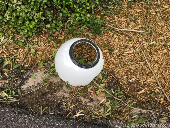Hurricane Irma in Walt Disney World broken lamp