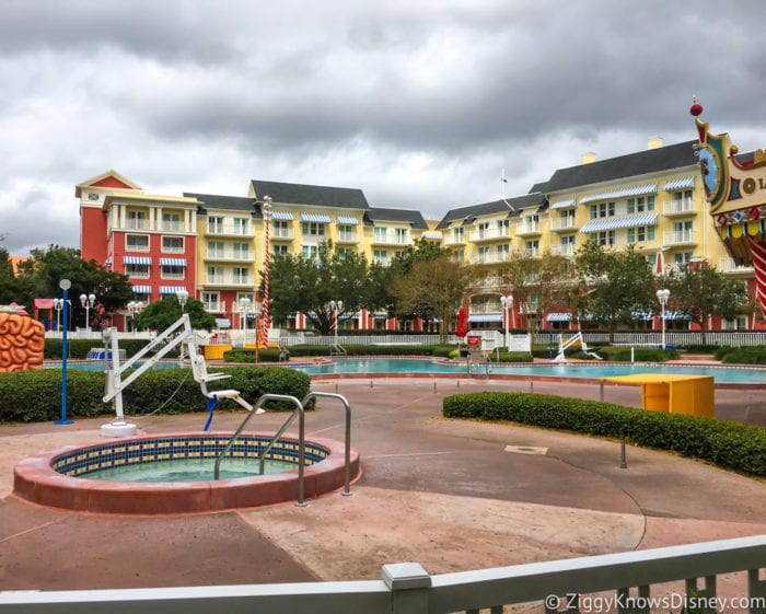 Hurricane Irma in Walt Disney World boardwalk pool