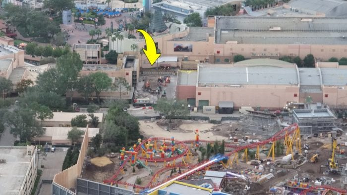 Toy Story Land Construction Update October toy story land entrance
