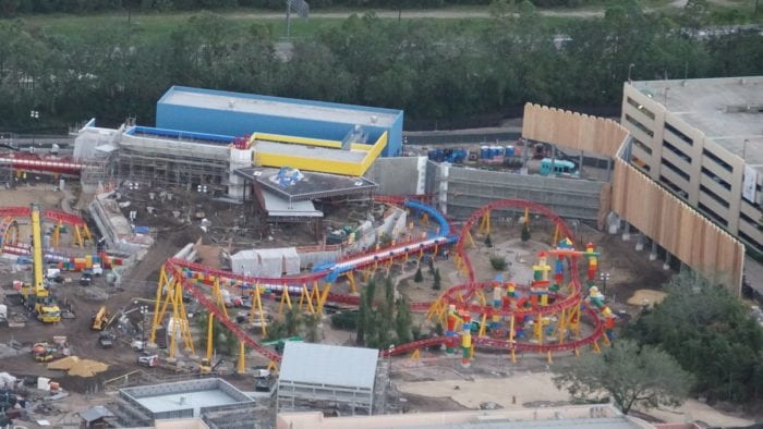 Toy Story Land Construction Update October slinky dog dash