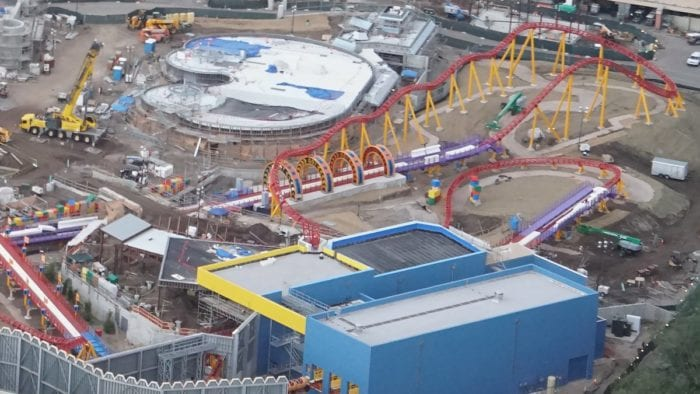 Toy Story Land Construction Update October rings