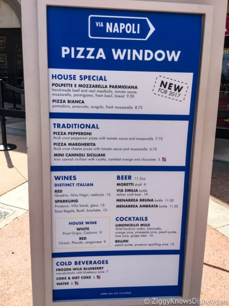 Via Napoli Pizza Window Review Via Napoli Pizza Window Menu
