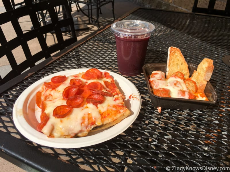 Via Napoli Pizza Window Review The Food, Pepperoni Pizza and Meatballs