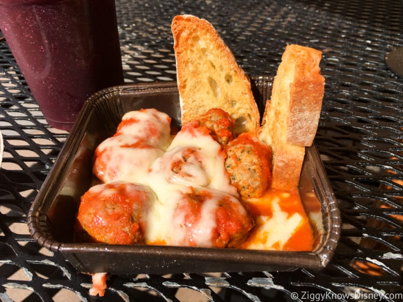 Via Napoli Pizza Window Review Meatballs Polpette and Mozzarella Parmigiana