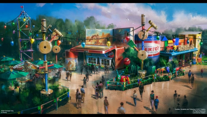 Toy Story Land Quick Service Woody's Lunch Box concept art