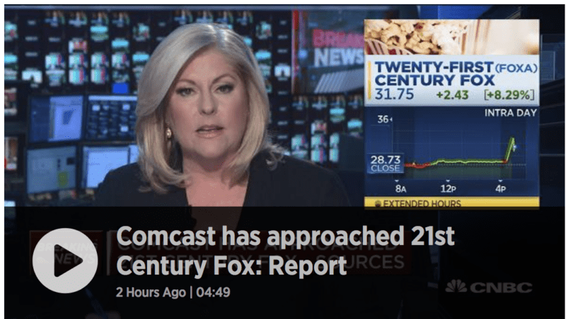 Comcast Interested in Buying 21st Century Fox