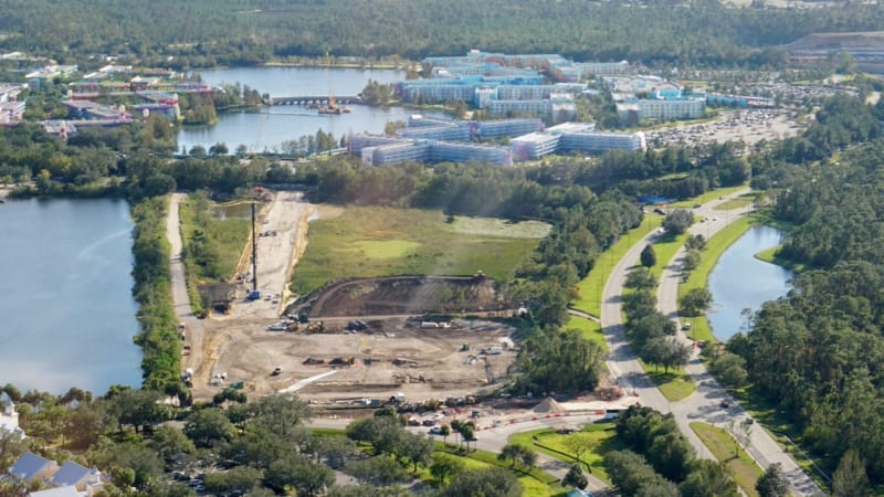 Disney Skyliner Construction Update November 2017 Art of Animation, Pop Century, Caribbean Beach