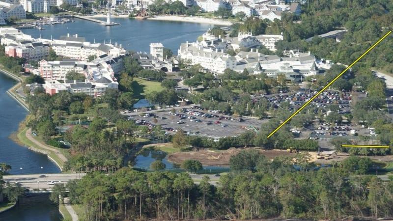 Disney Skyliner Construction Update November 2017 Riviera Resort and Epcot Turn